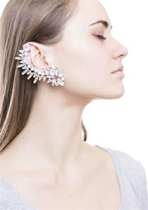 ear cuff rock chic statement ear cuff in silver happiness boutique