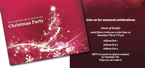 layout for christmas party invitation christmas party istudio publisher page