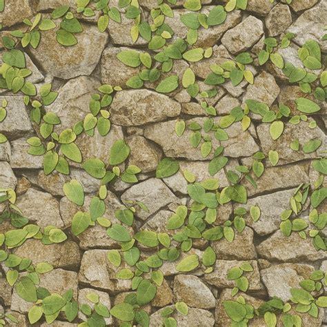 vine wallpaper for walls rasch barbara becker stone wall pattern wallpaper faux