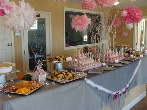 bridal shower table wedding shower food table entertaining pinterest