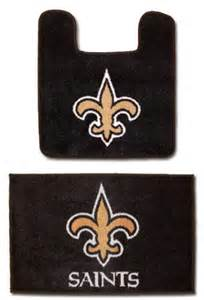 New Orleans Saints Bathroom Accessories Nfl New Orleans Saints Logo Bathroom Soft Floor Carpet Mats Rug Accessories Set B001u3copa