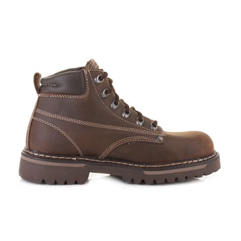 mens skechers cool cat bully 2 brown leather ankle