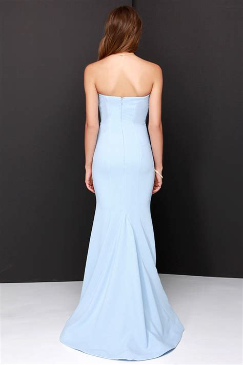 Maxi Sorella chic light blue dress strapless dress maxi dress 205 00