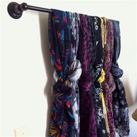 11 awesome diy scarves organizing hacks all for fashion