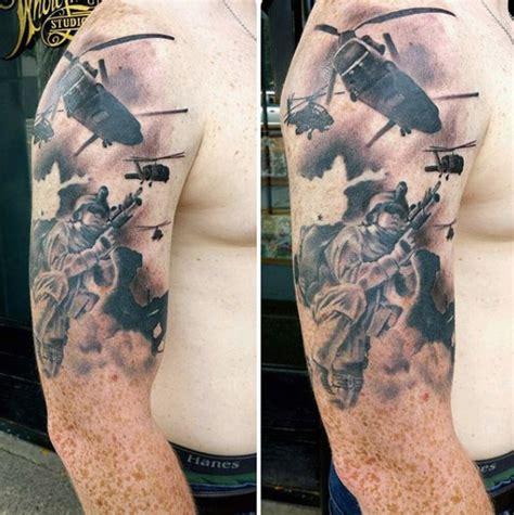tattoo army man 100 military tattoos for men memorial war solider designs