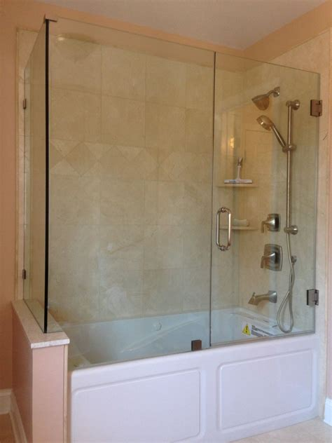 bathtub and shower enclosures frameless bathtub enclosure glass tub enclosures