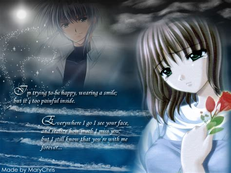 wallpaper anime with quotes depressed anime girl with quotes quotesgram