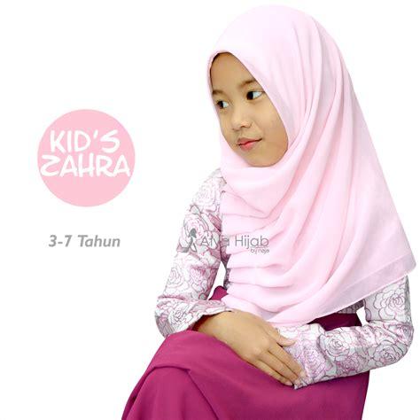 Mukena Kid Zahra jilbab zahra untuk si buah hati alya by naja