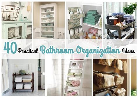 Creative Storage Ideas For Small Bathrooms 40 Practical Bathroom Organization Ideas Just Imagine