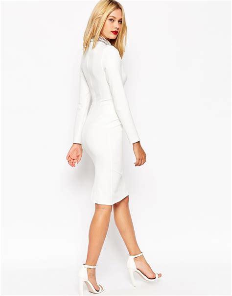 Sleeved Midi Dress white sleeve midi dress www imgkid the image