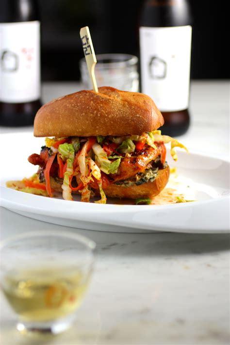 Franchise Herbal Chicken griddled gochujang chicken sandwich quot kimchi quot slaw