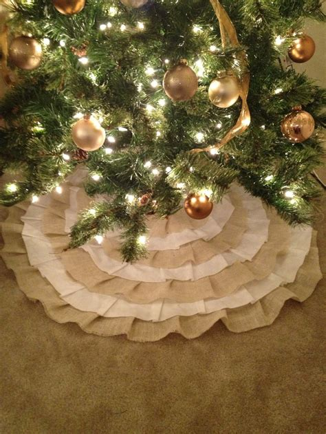 ruffled burlap christmas tree skirt made to order