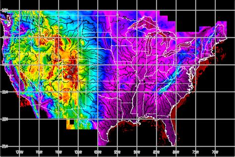 altitude map of usa maps us map elevation