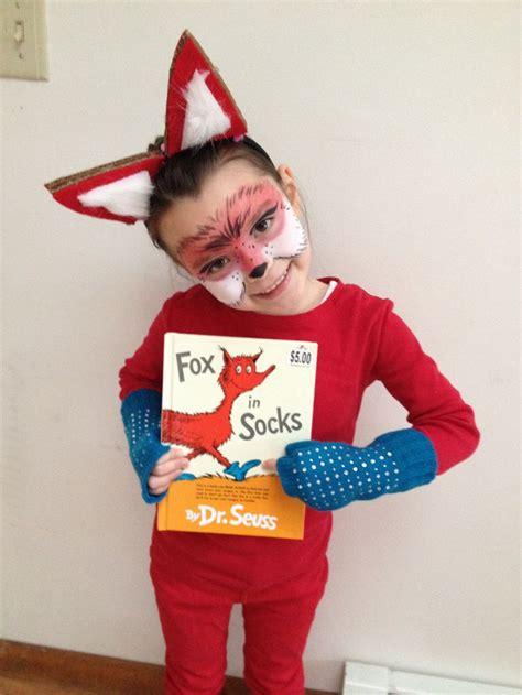diy fox in socks costume dr suess dress up fox in socks stuff for