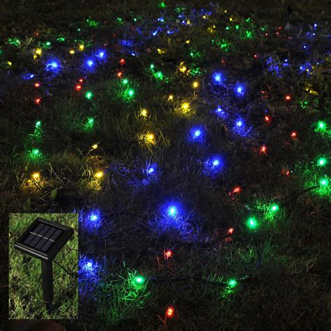 Outdoor Solar Net Lights 100 Led Solar String Light Power Outdoor Yard Lawn Net L
