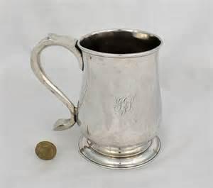 Silver Beer Mug Antiques Atlas George Ii Silver Pint Beer Mug Tankard Newcastle