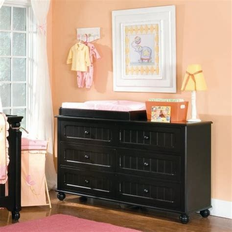 Black Dresser Changing Table Lea Industries My Style 6 Drawer Dresser With Optional