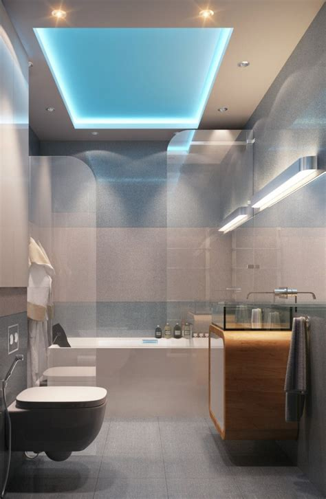 Bathroom Ceiling Design Ideas by Modern Bright Guest Bathroom Design Ideas Below Luminous