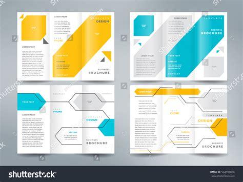 brochure folder template business brochure set design template folder stock vector