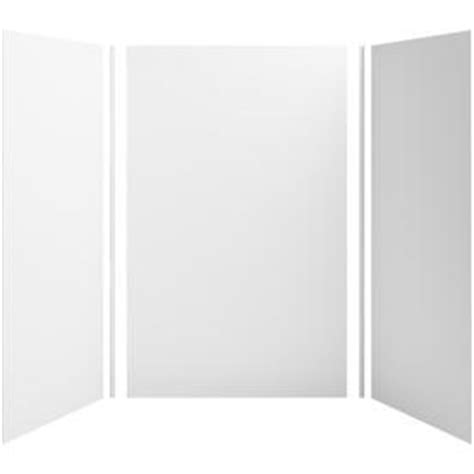 Fiberglass Shower Panels by Shop Kohler Choreograph White Fiberglass And Plastic