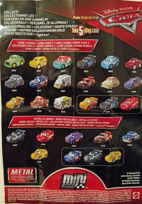 Disney Mini Cars 3 Florida Ramone No 29 Wave 3 Mattel Ori mattel disney pixar cars 3 metal mini diecasts wave 3 take five a day