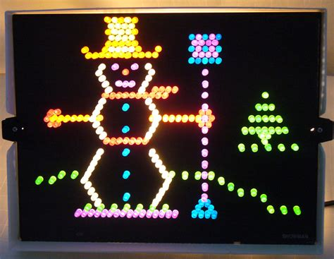 retro christmas lite brite snowman collectors weekly