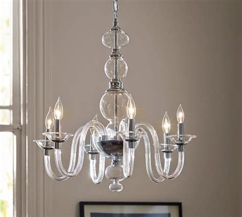 pottery barn lighting chandeliers blown glass chandelier pottery barn