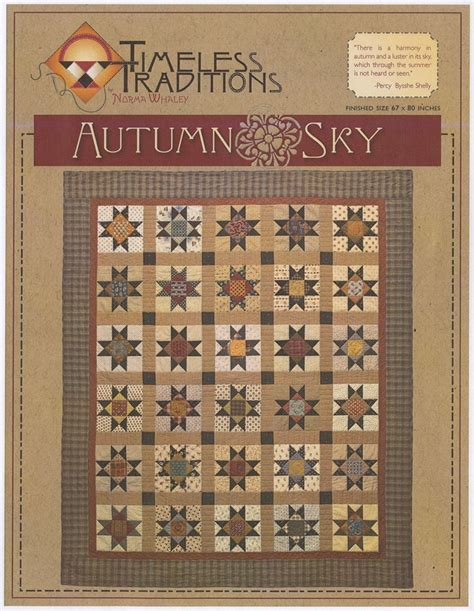 Quilt Shops In Illinois by Pattern Autumn Sky Quilt Pattern By Timeless Traditions