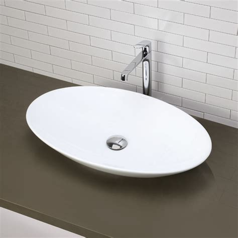 Oval Kitchen Sinks Decolav Classically Redefined Oval Vessel Bathroom Sink Reviews Wayfair