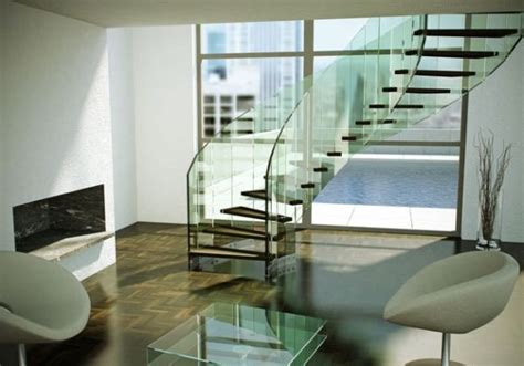 Modern Glass Stairs Design Suspended Style 32 Floating Staircase Ideas For The Contemporary Home