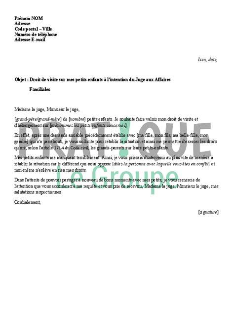 Lettre De Motivation Demande De Visa Visite Familiale Modele Lettre Pour Un Juge Des Affaires Familiales
