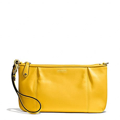 Wrislet Large Coach F 65748 coach f50796 cbell leather large wristlet brass sunflower coach wallets wristlets