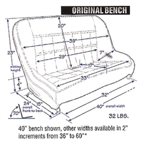 dimensions of a bench seat mastercraft rubicon bench seat review off road com