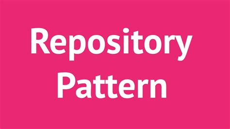 repository pattern the right way repository pattern with c and entity framework done r