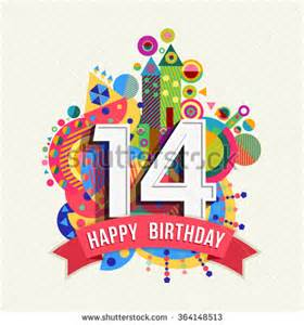 Birthday Card For 14 Year Boy Happy 14th Birthday Stock Images Royalty Free Images