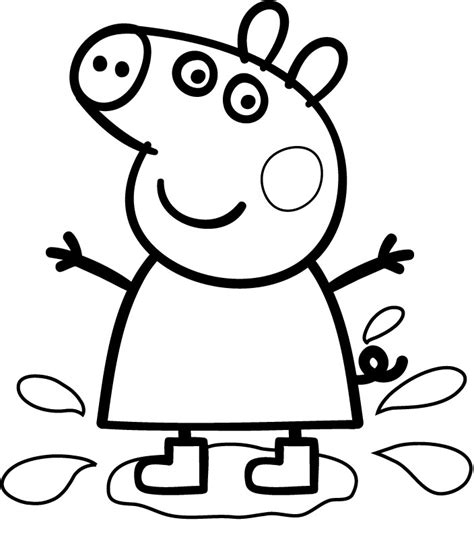 peppa pig drawing templates coloriage peppa pig les beaux dessins de dessin anim 233 224
