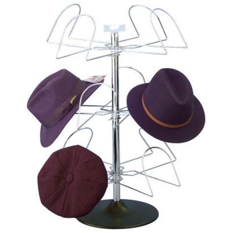 s countertop wire 12 hat rack display chrome