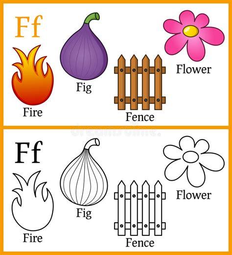 libro fire colour one libro de colorear para los ni 241 os alfabeto f ilustraci 243 n del vector ilustraci 243 n de