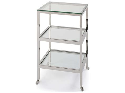 16 wide end table andrew alister polished nickel 16 wide square end