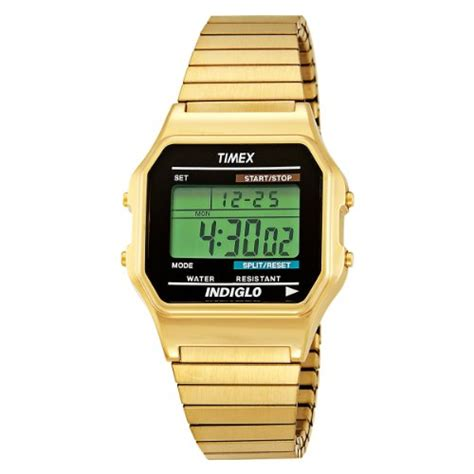 Buy Timex Mens T78677 Classic Digital Gold Tone Expansion Band Stainless Steel Bracelet Watch