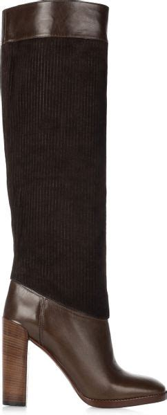 Chic The Knee Marc By Marc Boot by Marc By Marc Leather And Corduroy Knee Boots In