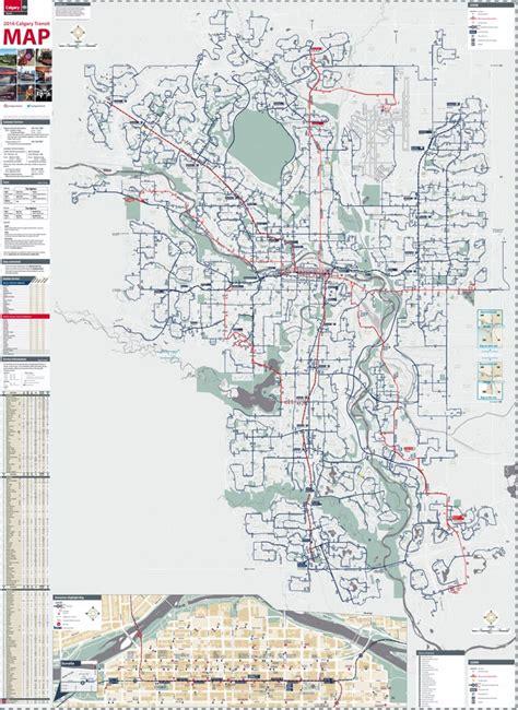 map world calgary calgary transport map