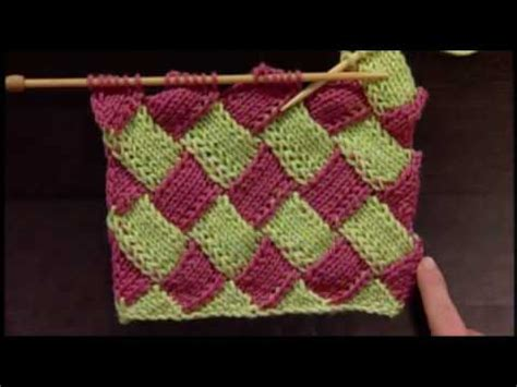how to knit entrelac entrelac pouch free knitting patterns and projects part 1