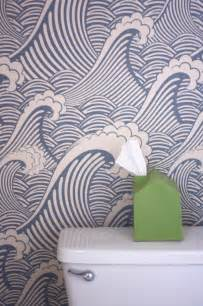Removable Wall Paper by Removable Wallpaper In The Bathroom How About Orange