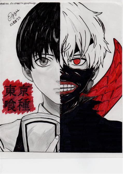 Imagenes Para Dibujar Tokyo Ghoul   sus dos caras kaneki ken tokyo ghoul by elyyss on