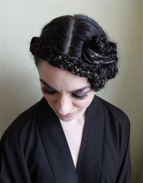 wars hair styles how to hair girl 1930 s deco star wars braided chapeau