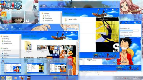 one piece themes for windows 8 1 free download theme 7 one piece we go