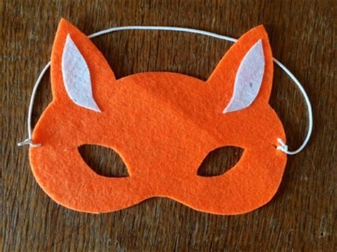 How To Make A Paper Fox Mask - no sew fox mask my kid craft