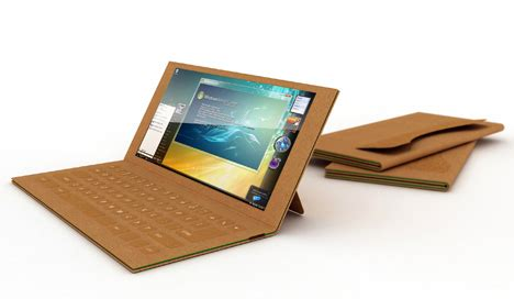How To Make Paper Gadgets - trashy tech disposable recyclable paper laptop concept