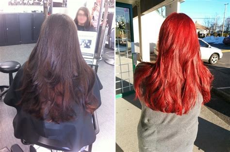 red and black l shade loreal hicolor copper red on dark hair